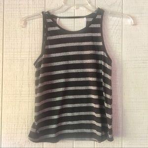 {Old Navy} Black & White Striped Tank Top